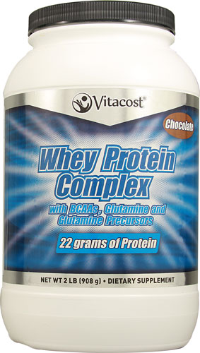 Vitacost's Whey Protein Powder is sweetened with Xylitol & Stevia therefore it won't elevate blood sugar levels.