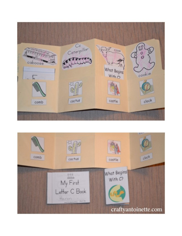 This is the inside of the lapbook along with the two mini books we worked on.