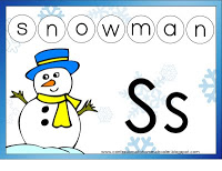 Her Letter S is for Snowman! Click on the picture for her printables.