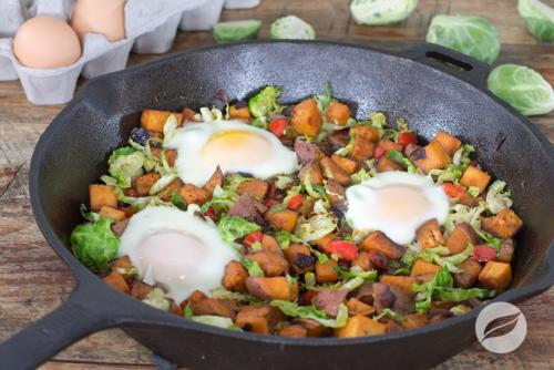 Jerk Sweet Potato Hash