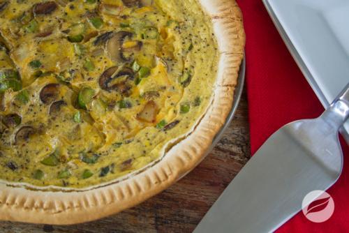 26 Asparagus and Mushroom Quiche