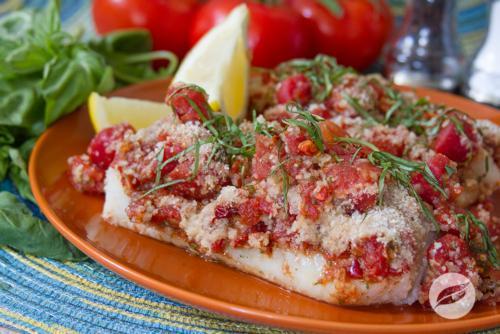 Baked Cod w Fiesta Salsa